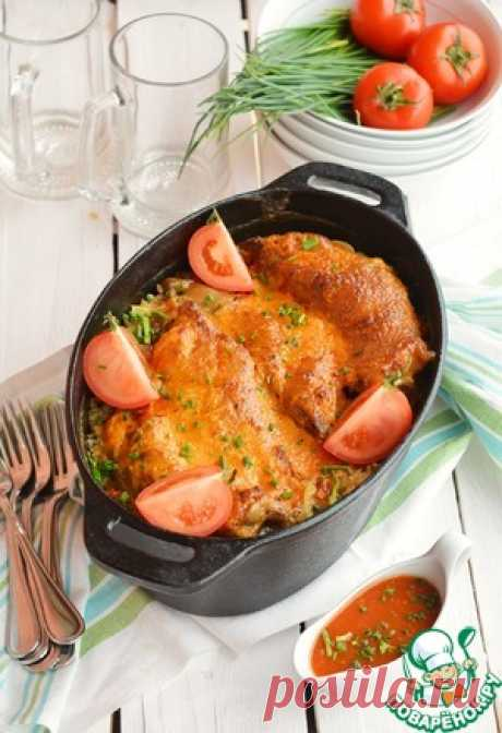 Свиные ножки, запеченные с рисом - кулинарный рецепт
