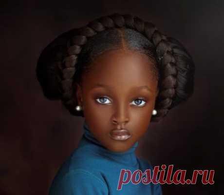 5-летнюю девочку из Нигерии назвали самой красивой в мире!
