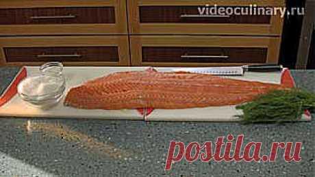 Засолка лососёвых рыб - Видеокулинария.рф - видео-рецепты Бабушки Эммы | Видеокулинария.рф - видео-рецепты Бабушки Эммы