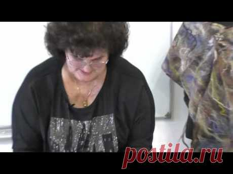 Тонкие палантины с мраморным рисунком Елены Макаровой Рисунок из шелковых квадратов