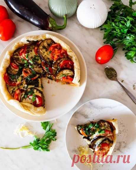 Галета с баклажаном и томатами — Sloosh – кулинарные рецепты