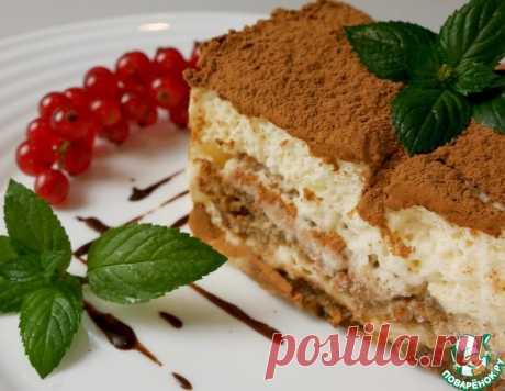Тирамису с домашним печеньем Савоярди – кулинарный рецепт
