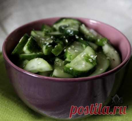 Салат для похудания огуречный | Женское кредо