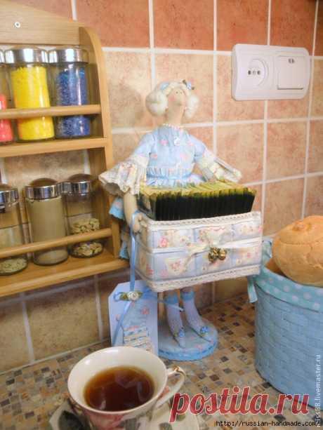 Кукла ТИЛЬДА — хранительница чайных пакетиков. с описанием