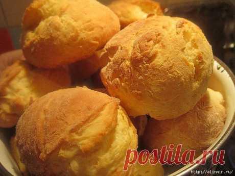 Быстрые сдобные домашние булочки из творога без масла