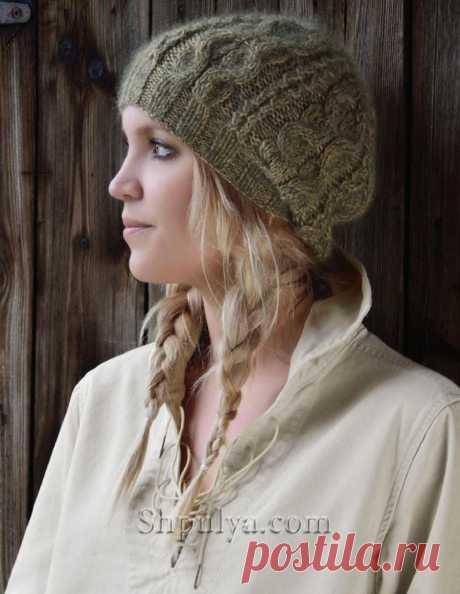 Вязаная шапка спицами от Ким Харгрейвз — Shpulya.com - схемы с описанием для вязания спицами и крючком
