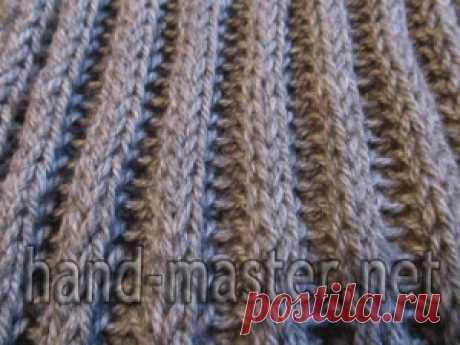 Английская резинка граненая | Вязание крючком & спицами