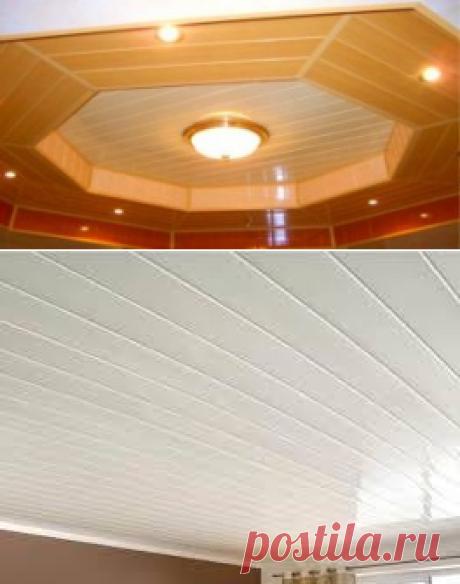 Пластиковые потолочные ПВХ панели, свойства и характеристики