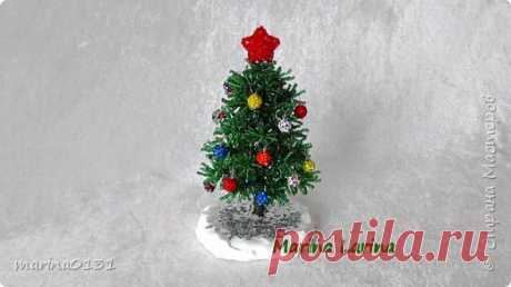 Создаем новогоднюю елку из бисера своими руками.   Страна Мастеров
