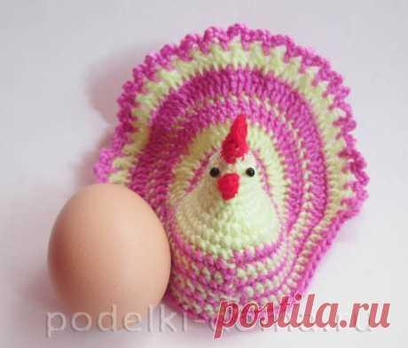 Подставки и корзинки для яиц, вязаные крючком - новые мастер-классы | podelki-doma.ru
