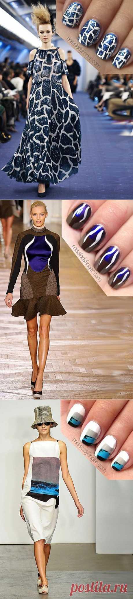 La manicura como la continuación de la imagen \/ los Detalles \/ el sitio A la moda sobre el rehacimiento de estilo de la ropa y el interior