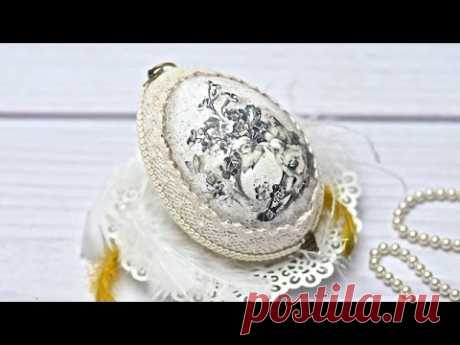 Easter egg with rice paper----DIY By Catherine :)