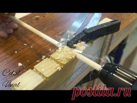 Изготовление дюбелей / Как сделать дюбель