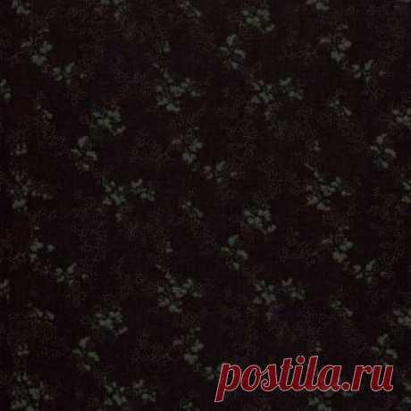 Черный с цветочным рисунком 0442-02