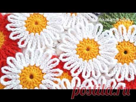 How to crochet EASY for beginners CROCHET Motif Flower Daisy