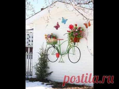 Необычные идеи для сада и дачи. Декор своими руками из подручных материалов.