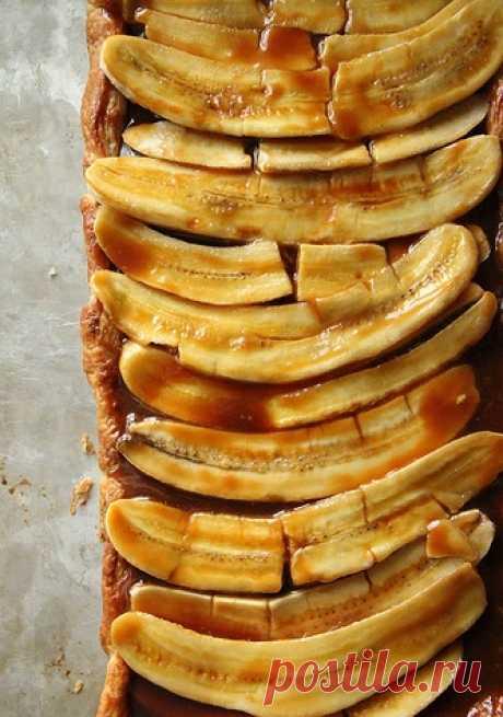 Бананово-карамельный тарт. (Рецепт на английском, но с фотографиями и интуитивно понятный по клику на картинку).