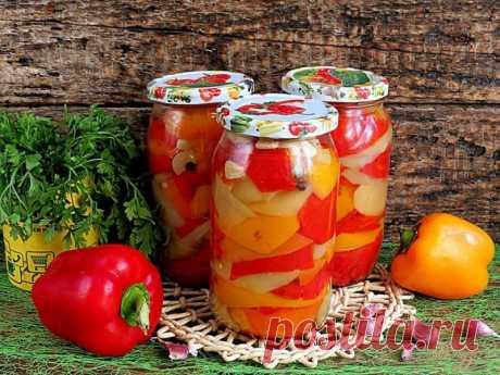 Салат из перца и помидоров в медовой заливке — Sloosh – кулинарные рецепты