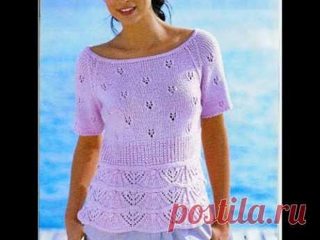 Красивая блузочка на лето с рукавами реглан снизу