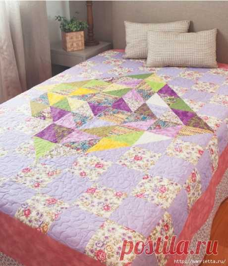 Текстильное покрывало в технике ПЭЧВОРК
