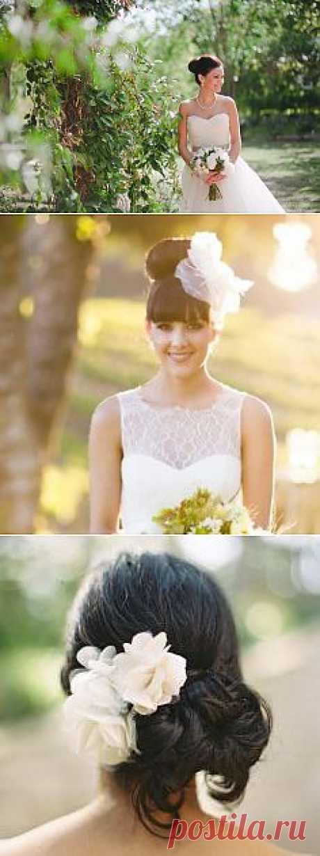 В тренде: пучок в качестве свадебной причёски - WeddyWood