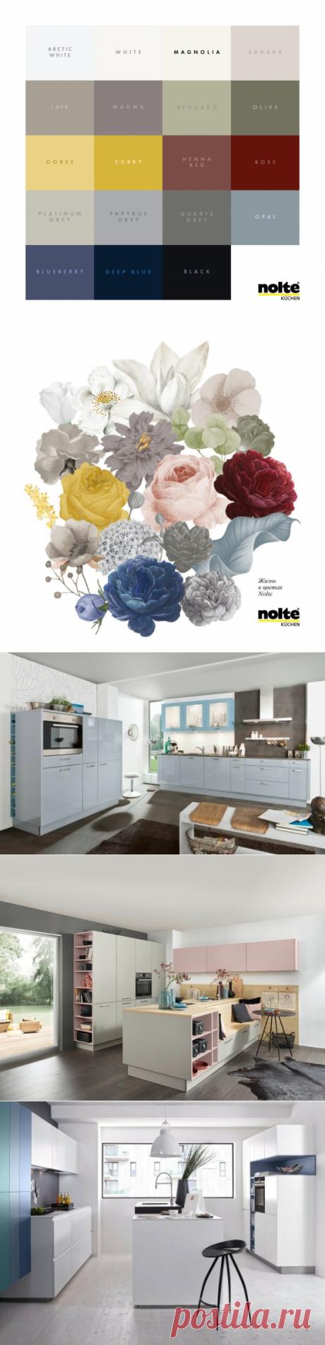 Цветные фасады на кухне: какой оттенок считается фаворитом в Германии 🇩🇪. Цветные кухонные фасады – ваша уникальная возможность создать настроение. | Nolte Küchen | Яндекс Дзен
