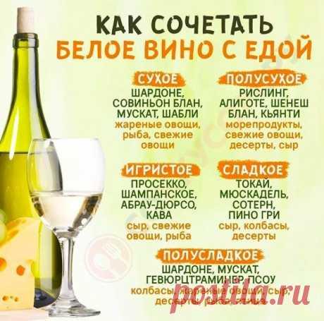 Кулинарное искусство: Учимся сочетать белое вино с едой.