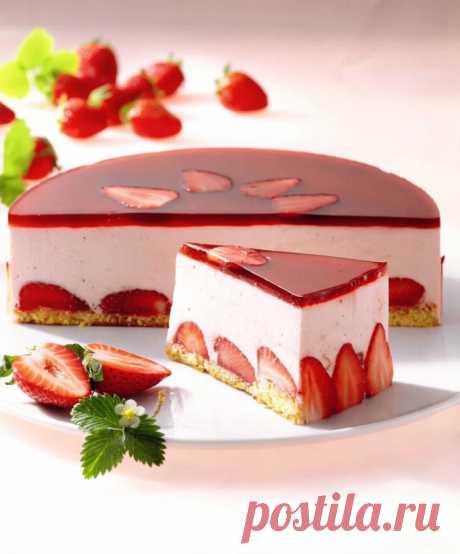 Клубничный торт мусс: пошаговый рецепт