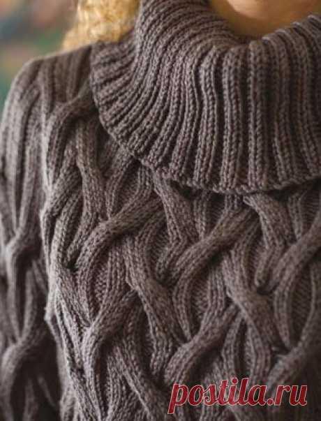 Схема для вязания пуловера спицами. Объемный узор для вязания свитера | Домоводство для всей семьи.