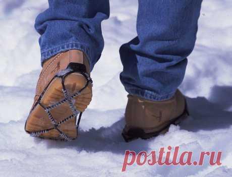 Что сделать, чтобы обувь не скользила зимой на льду в домашних условиях