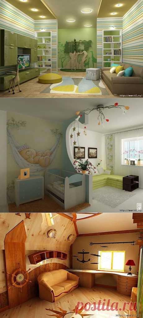 Идеи дизайна интерьера детской комнаты..