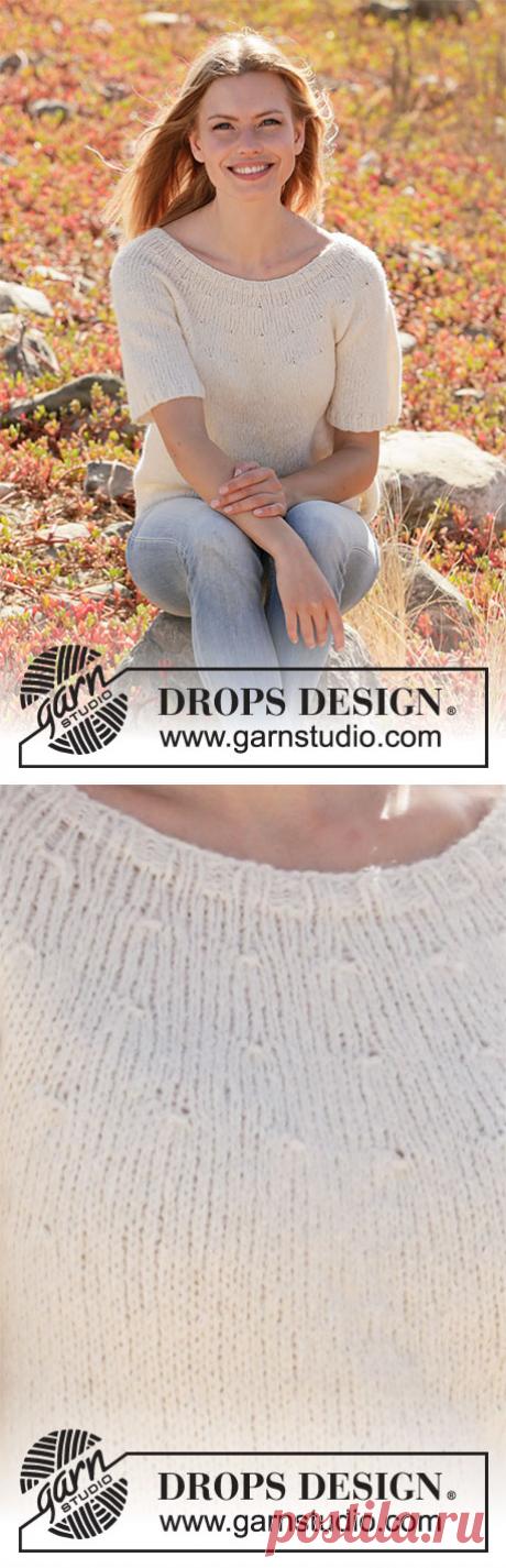 Джемпер White Dove от DROPS Design - блог экспертов интернет-магазина пряжи 5motkov.ru