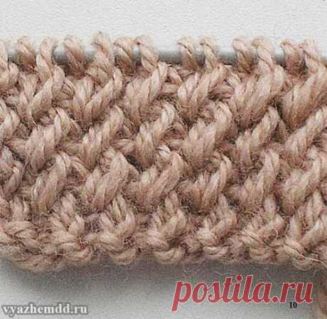 Knitting of a beautiful elastic band for hats.