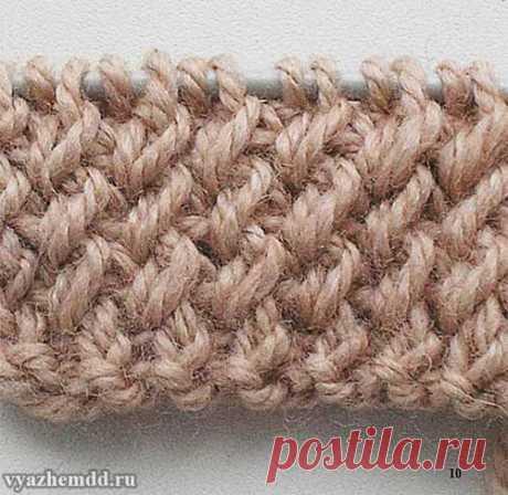 Вязание красивой резинки для шапочек.