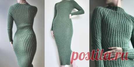 Платье спицами резинкой Oh My Figure - Вяжи.ру