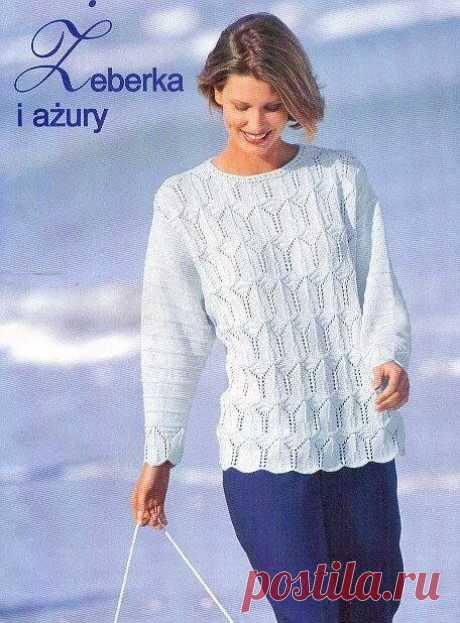 Четыре заманчивые модели пуловеров спицами🌺 | Asha. Вязание и дизайн.🌶Сонник. | Яндекс Дзен