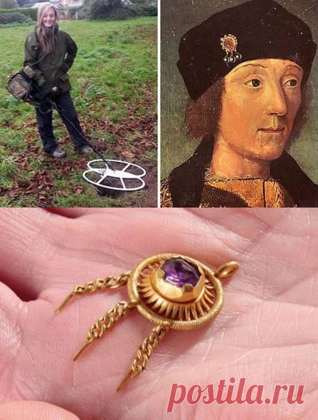 Как англичанка нашла с помощью металлоискателя королевское украшение 15 века