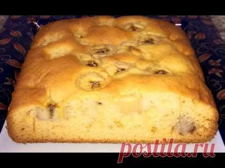 Пирог с фруктами. Фруктовый пирог. Пирог простой рецепт. Пирог с бананами.