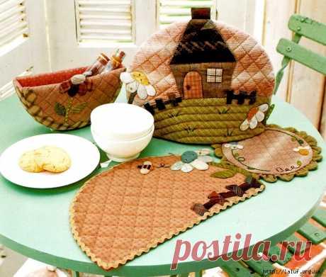 Уютные мелочи для кухни, японский пэчворк. Схемы.