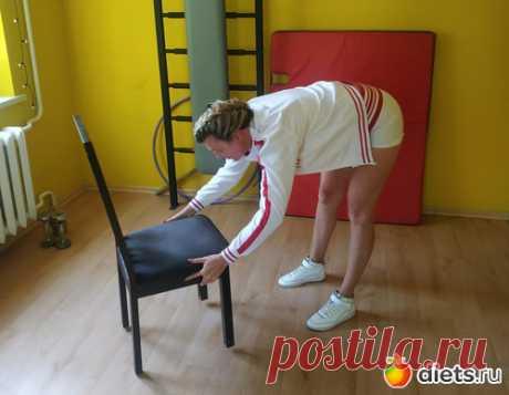 Домашний комплекс упражнений со стулом (на случай дождливых выходных)   Всегда в форме!