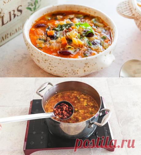 Диетические блюда на Карантине. Итальянский минестроне, пошаговый рецепт с фото.