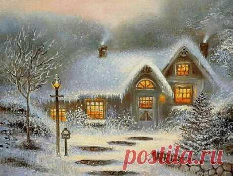 Схема вышивки «тиха рождественская ночь...» - Вышивка крестом
