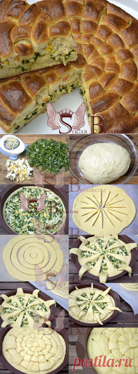Оригинальный пирог с классической начинкой   Sugar & Breads in Russia