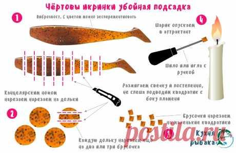 Чёртовы икринки или убойная подсадка | Кухня рыбака | Яндекс Дзен