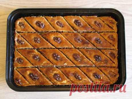 Пахлава - классический рецепт с пошаговыми фото / Меню недели