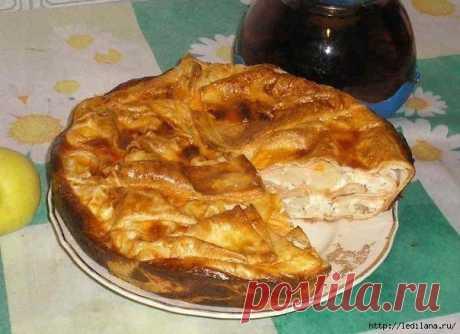 Вкусный пирог из лаваша быстрого приготовления.