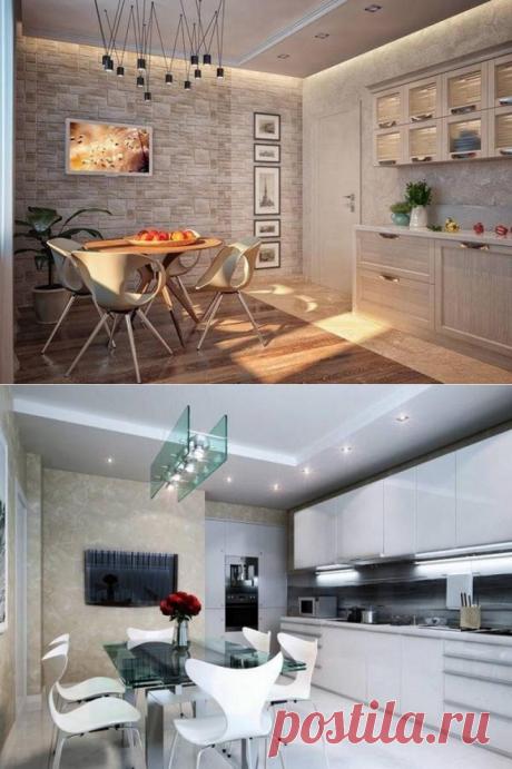 Интересные идеи использования декоративной штукатурки на кухне - Счастливые заметки