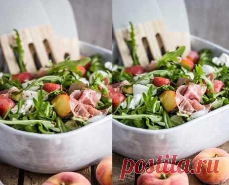 Салат с персиками — Мегаздоров