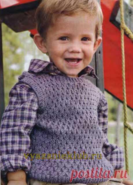 Безрукавка малышу 1 год - Для детей до года - Каталог файлов - Вязание для детей