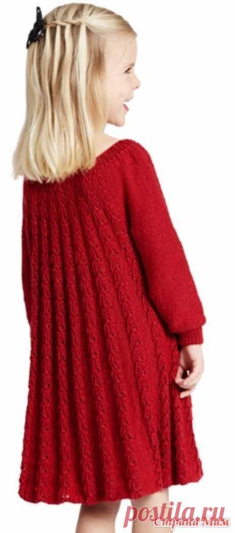 . Платье для девочки спицами - Вязание - Страна Мам